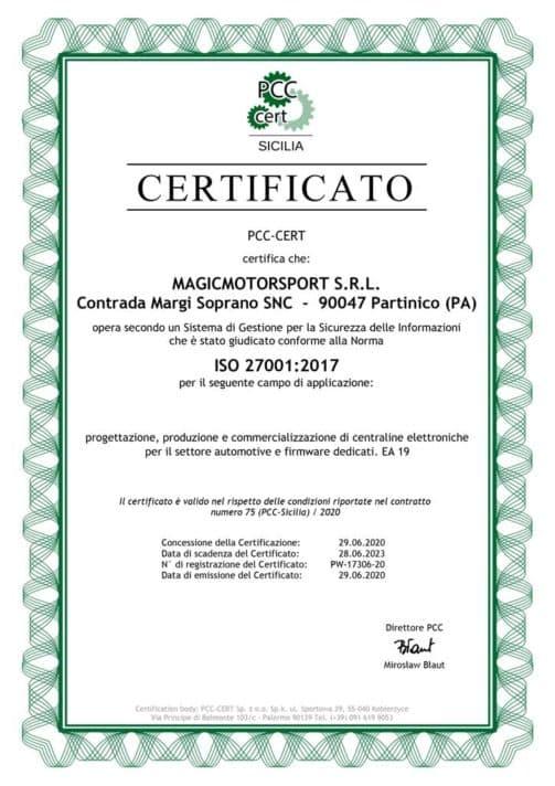 Certificato-ISO-27001_PCC_Magicmotorsport