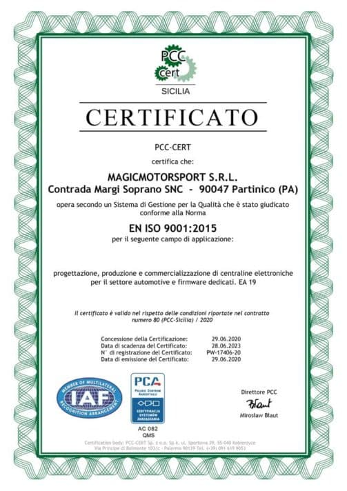 Certificato-ISO-9001_PCC_Magicmotorsport