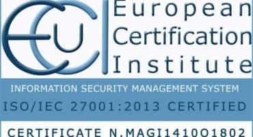 certification ISO/IEC 27001:2013
