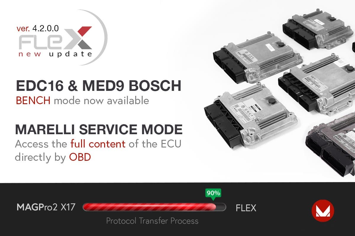 New solutions in Bench for Bosch EDC16 & MED9 and OBD for Marelli