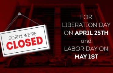 Uffici chiusi per il 25 aprile e per il primo maggio